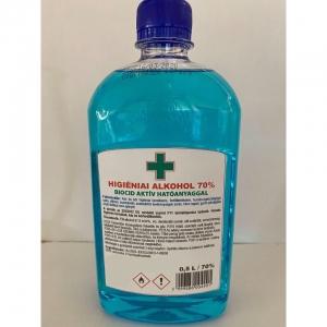 Kézfertőtlenítő: Higiéniai alkohol 70% (0.5liter)