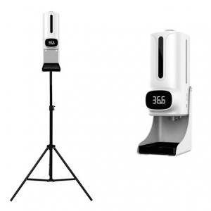 K9 Pro Plus Automata, szenzoros hőmérő és kézfertőtlenítő adagoló állvánnyal